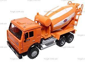Инерционная бетономешалка, оранжевая, 9117A, toys.com.ua