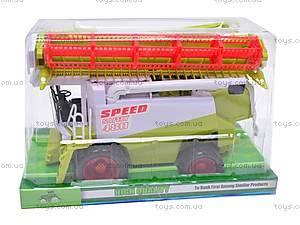 Инерционная игрушка «Комбайн», 8489/8589, игрушки