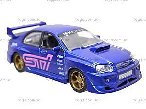 Инерционная машина 1:50 Subaru Impreza WRX, 6004, детские игрушки