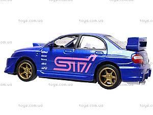 Инерционная машина 1:50 Subaru Impreza WRX, 6004, магазин игрушек