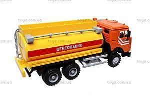 Инерционная машина «Бензин» оранжевая , 9118B, фото