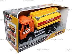 Инерционная машина «Бензин» оранжевая , 9118B