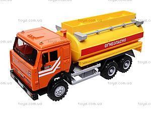 Инерционная машина «Бензин» оранжевая , 9118B, магазин игрушек