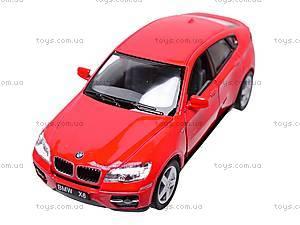 Инерционная машина BMW X6, масштаб 1:38, KT5336W, купить