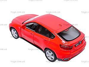 Инерционная машина BMW X6, масштаб 1:38, KT5336W, отзывы