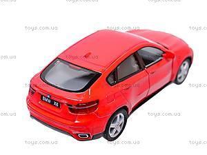 Инерционная машина BMW X6, масштаб 1:38, KT5336W, цена