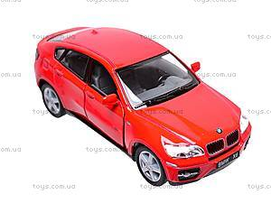 Инерционная машина BMW X6, масштаб 1:38, KT5336W, игрушки