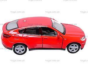 Инерционная машина BMW X6, масштаб 1:38, KT5336W, детские игрушки
