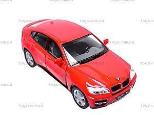 Инерционная машина BMW X6, масштаб 1:38, KT5336W