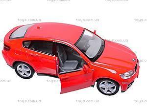 Инерционная машина BMW X6, масштаб 1:38, KT5336W, toys.com.ua