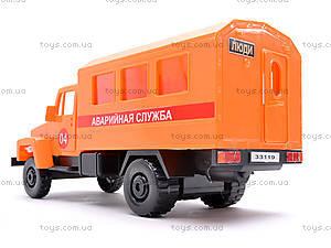 Инерционная машина ГАЗ «Аварийная служба», 33119, игрушки