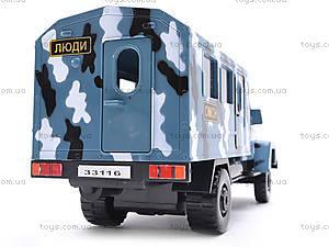 Инерционная машина ГАЗ «ОМОН», 33116, игрушки