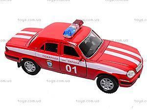 Инерционная машина ГАЗ «Пожарная охрана», 42384FS-W, игрушки