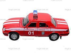 Инерционная машина ГАЗ «Пожарная охрана», 42384FS-W, детские игрушки
