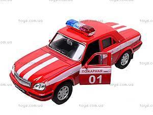 Инерционная машина ГАЗ «Пожарная охрана», 42384FS-W, магазин игрушек