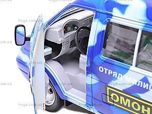 Инерционная машина Газель «ОМОН», 9124C, детские игрушки