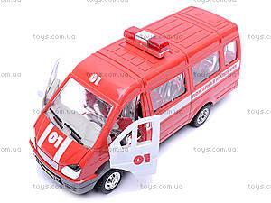 Инерционная машина Газель «Пожарная», 1114, детские игрушки
