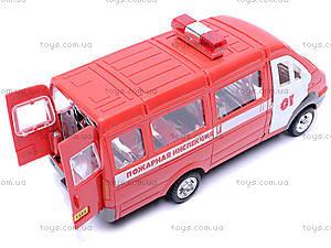 Инерционная машина Газель «Пожарная», 1114, магазин игрушек