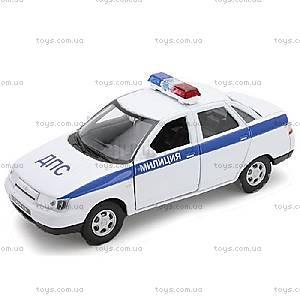 Инерционная машина Lada 110 «Милиция, ДПС», 42385PB-W