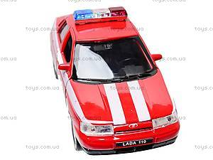 Инерционная машина Lada 110 «Пожарная охрана», 42385FS-W, игрушки