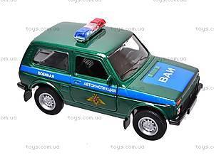 Инерционная машина Lada 4x4 «Военная», 42386MC-W