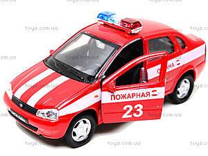 Инерционная машина Lada Kalina «Пожарная охрана», 42383FS-W, цена