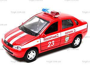 Инерционная машина Lada Kalina «Пожарная охрана», 42383FS-W, игрушки