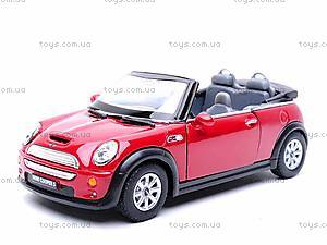 Инерционная машина Mini Cooper S Convertible, KT5089W, фото