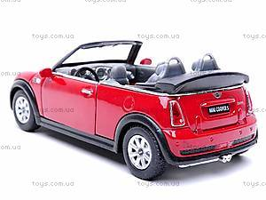 Инерционная машина Mini Cooper S Convertible, KT5089W, отзывы