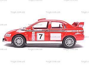 Инерционная машина Mitsubishi Lancer VII WRC, KT5048W, купить