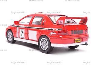 Инерционная машина Mitsubishi Lancer VII WRC, KT5048W, игрушки
