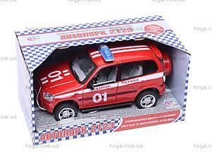 Инерционная машина Нива «Пожарная охрана», 9079-E, игрушки