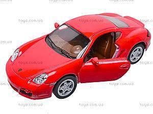 Инерционная машина Porsche Cayman S, KT5307W, детские игрушки