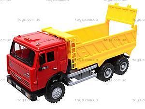 Инерционная машина «Самосвал» желтая, 9099-C, детские игрушки