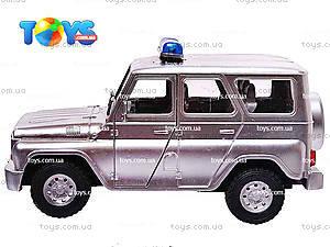 Инерционная машина УАЗ «Полиция», металлик, 9076-B, купить