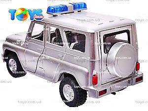 Инерционная машина УАЗ «Полиция», металлик, 9076-B, фото