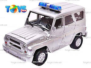 Инерционная машина УАЗ «Полиция», металлик, 9076-B, отзывы