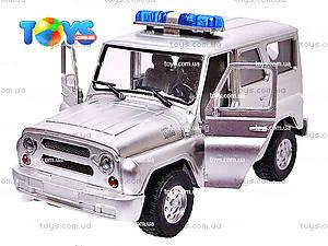 Инерционная машина УАЗ «Полиция», металлик, 9076-B, цена