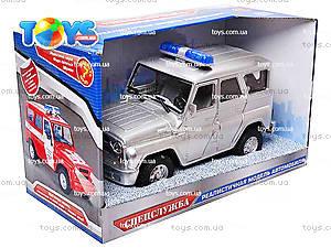 Инерционная машина УАЗ «Полиция», металлик, 9076-B