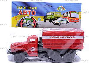 Инерционная машина Урал «Пожарная», 36116, цена