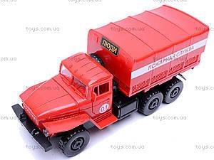 Инерционная машина Урал «Пожарная», 36116, детские игрушки