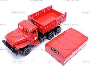 Инерционная машина Урал «Пожарная», 36116, магазин игрушек