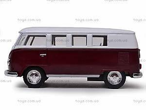 Инерционная машина Volkswagen Classical Bus 1962, KT5060W, фото
