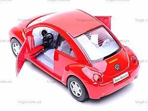 Инерционная машина Volkswagen New Beetle, KT5028W, игрушки