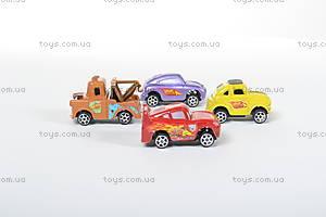 Инерционные машины «Тачки», 4 штуки, 399-9, игрушки