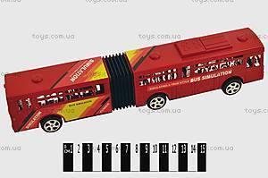 Инерционный автобус, красный, 8917-2
