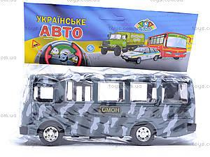 Инерционный автобус «ОМОН», 32116, игрушки