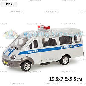 Инерционный автомобиль Газель «Милиция», 1112