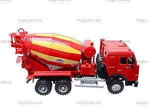 Инерционный бетоносмеситель, красный, синий, 9117B, детские игрушки