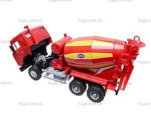 Инерционный бетоносмеситель, красный, синий, 9117B, toys.com.ua